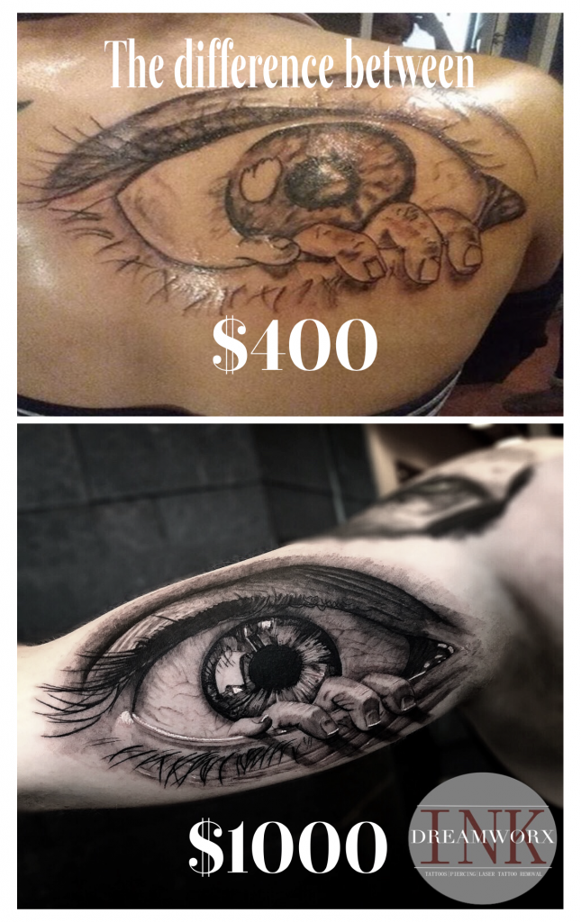 $400 tattoo vs $1000 tattoo